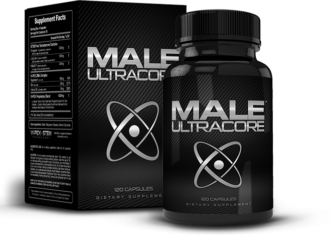 Bottle of Male UltraCore Testosterone Boosters