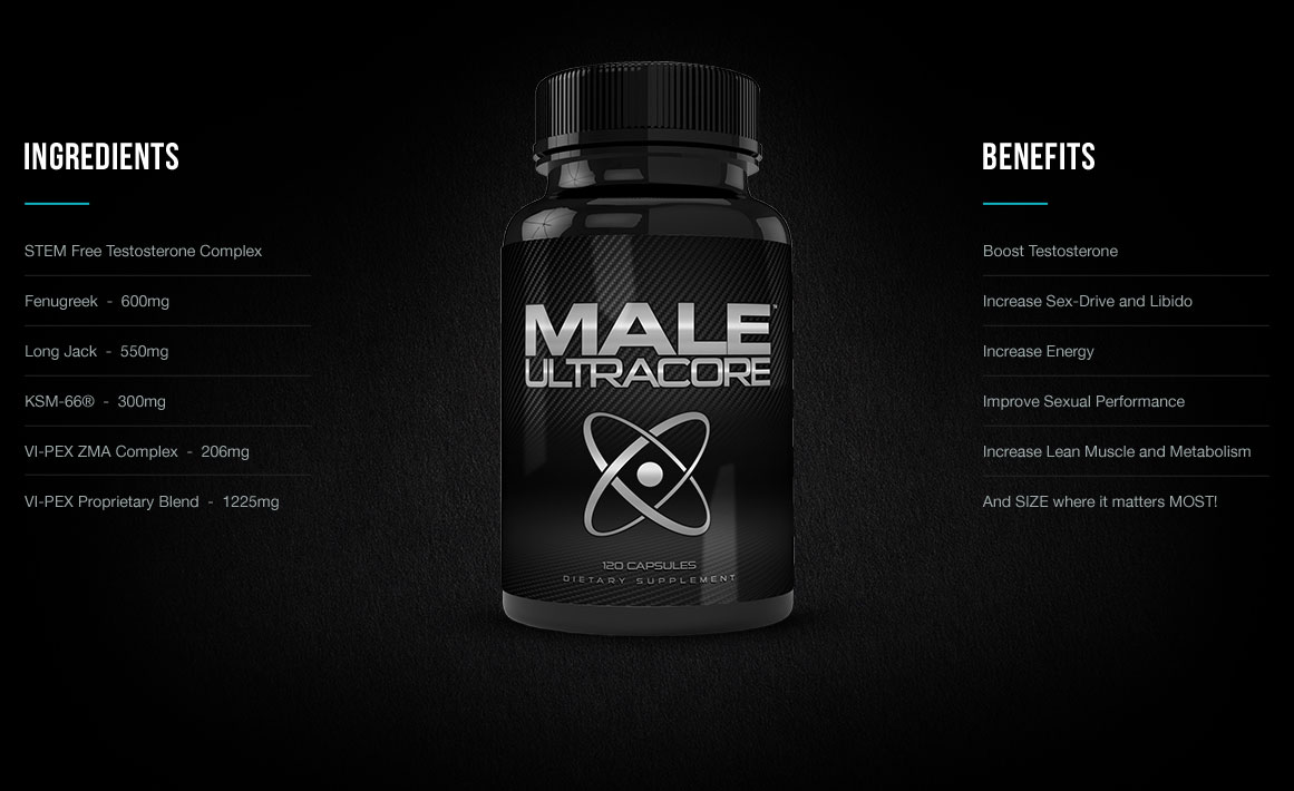 Benefits and Ingredients of Male UltraCore Testosterone Boosters